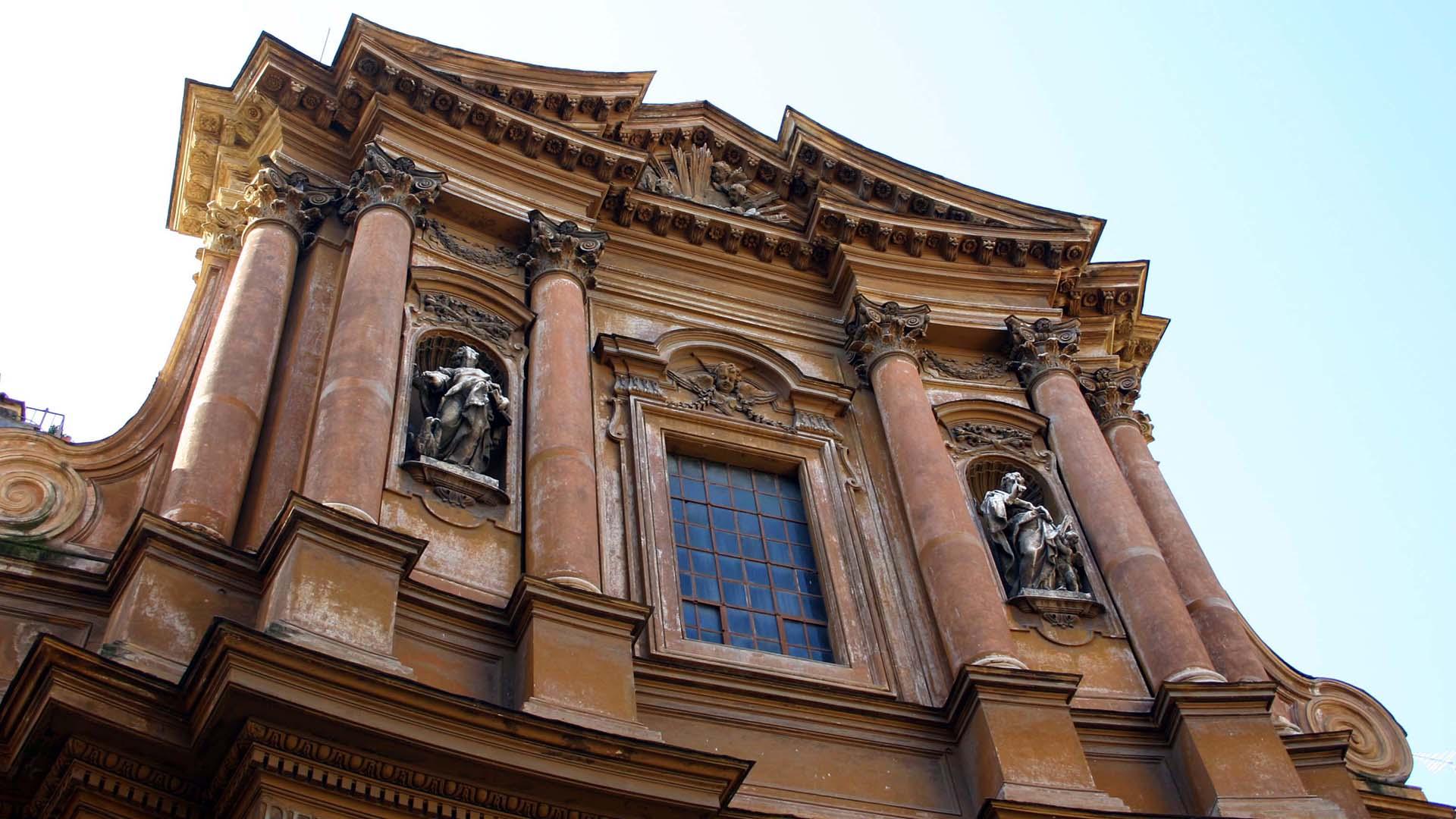 Facciata della Chiesa SS. Trinità dei Pellegrini
